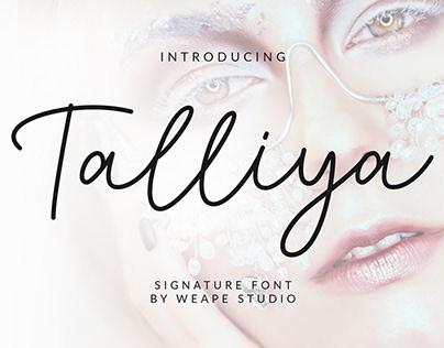 Talliya Signature Font
