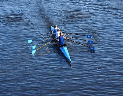 Canoe rowers