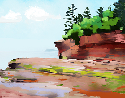 Burntcoat, NS digital paintings
