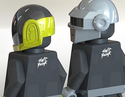 Daft Punk Lego | 3D Modeling