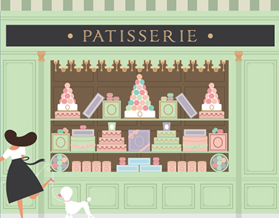 Patisserie on behance - Dessin boulangerie patisserie ...