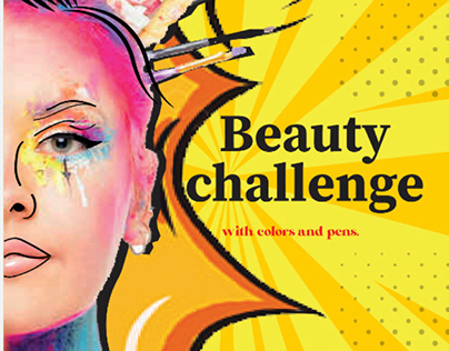 Beauty challenge with brushes,colors not with makeup