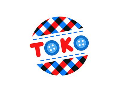 Toko - shop logo design
