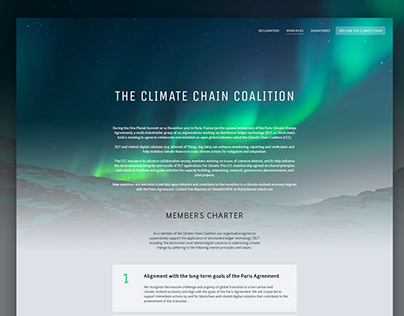The Climate Chain Coalition - Webdesign