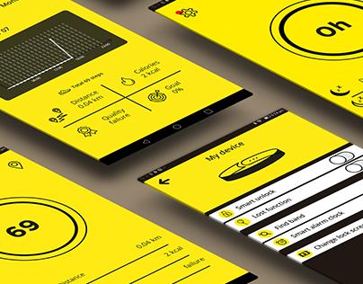 INexive Smartband UI design