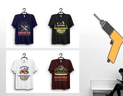8 Sawmill/Woodworker T-Shirt Design Bundle Only $10