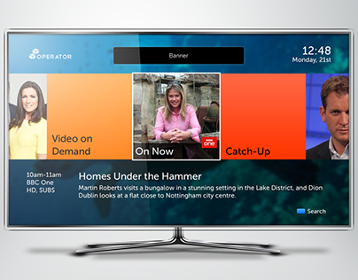 Concept UI for internet enabled TV/STBs - 1