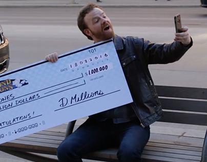 The Big Cheque. Diamond Millions Slot Machine video