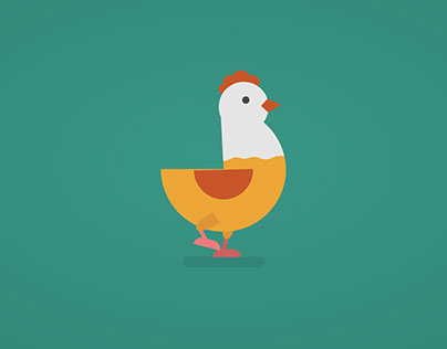 Chicken walk cycle