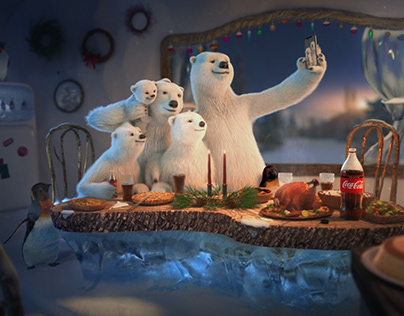 Christma's rules || COCA COLA - matte painting breakdow