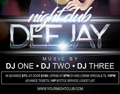 Nightclub Deejay (Flyer Template 4x6)