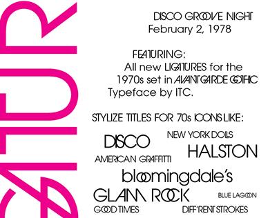 Studio 54 Typography Poster