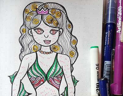 Doodles 19 - Mermaid