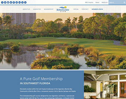 Bonita Bay Club Website Redesign