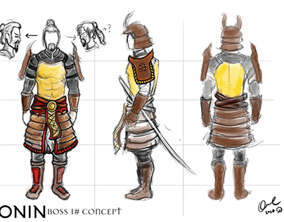 Ronin : Two Souls One Body / 1st Boss Concept