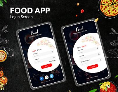 Online Food Login Screen Design IOS