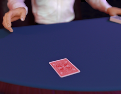 3D Poker Animated Scene