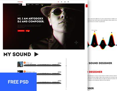 CVSound - free musical PSD template