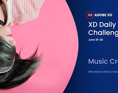Music Creation App. Adobe XD Daily Creative Challenge