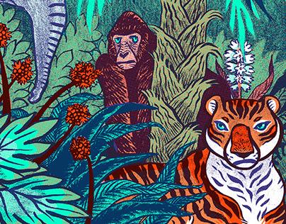 Silkprinted Jungle