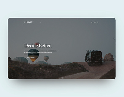 Big Data Web UI UX Design
