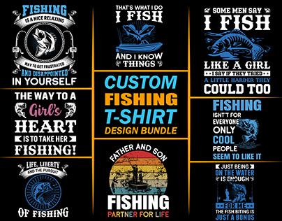 Custom Fishing T-shirts Bundle