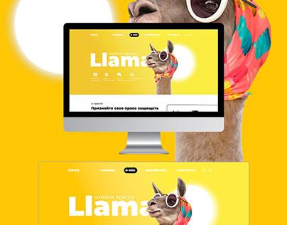 Макет сайта для креативного агентства