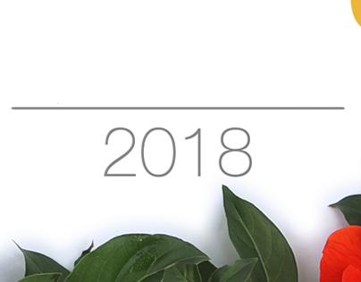 2018 Calendar : Flower circle Photographic challenge