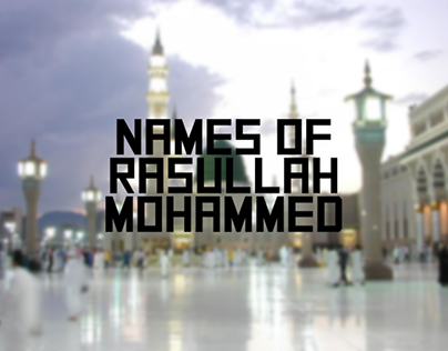 Names Of Rasullah In Koufi