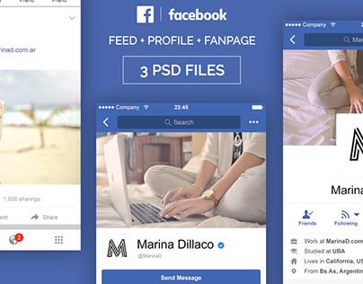 FREE Facebook Mobile PSD UI