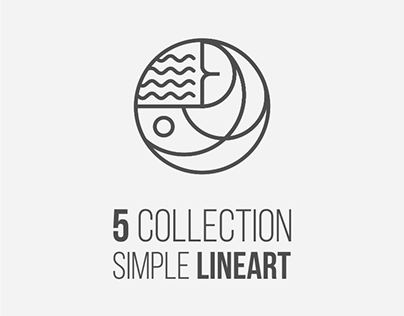 5 collection simple lineArt