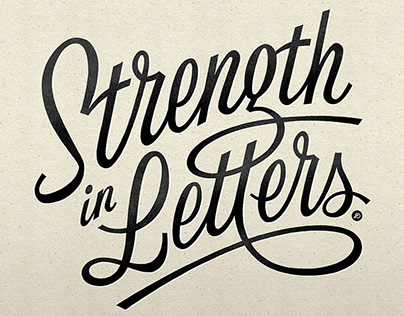 LETTERING / Strength in Letters