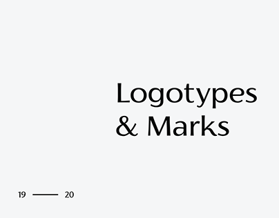 Logotypes & Marks 2019 - 2020 / 01