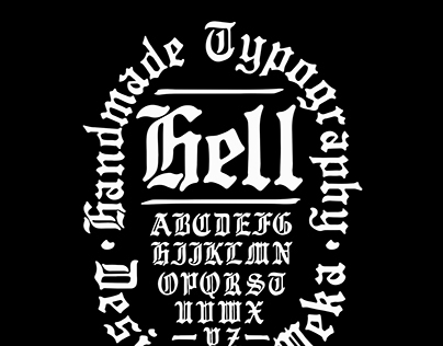 HELL - Gothic typeface by meka
