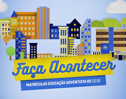 Campanha de Matrículas 2016 - Educação Adventista RS
