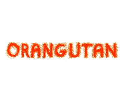 Orangutan typography