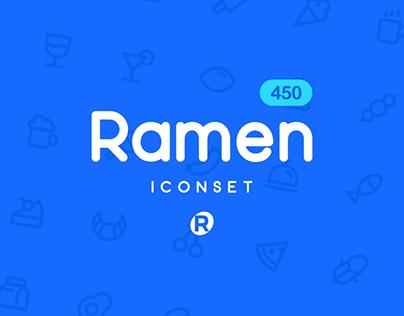 RAMEN ICONSET 线性图标集