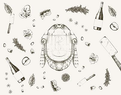 Illustration for restaurant