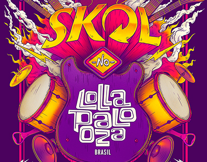 SKOL - Lollapaloza / Bigodon key visual