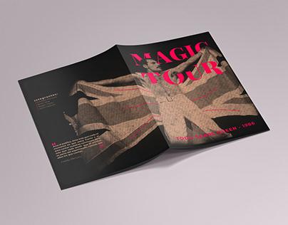Fanzine Queen Magic Tour '86 - Tipografía 2