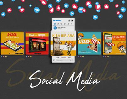 Digital Menu Vua - Social Media