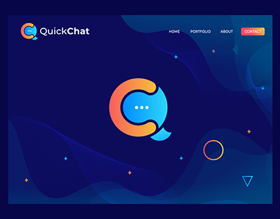 QuickChat Logo Design | (Q+C) Letter Mark