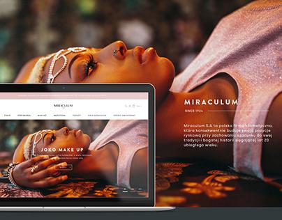 Miraculum - web design
