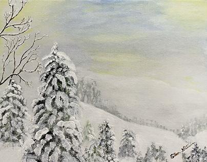 Another Smokey Mountain Snow Scene