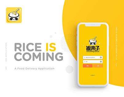 Rice Coming App UI/UX Design