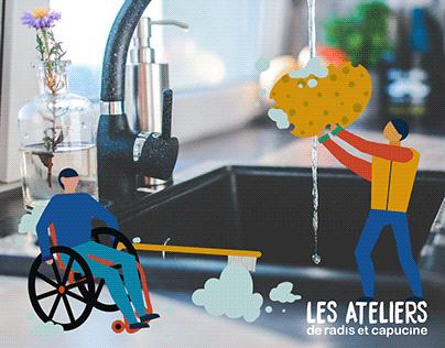 LES ATELIERS de Radis et capucine, 2019.