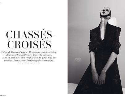"""Editorial """"Chassés Croises"""" in L'Officiel Suisse"""