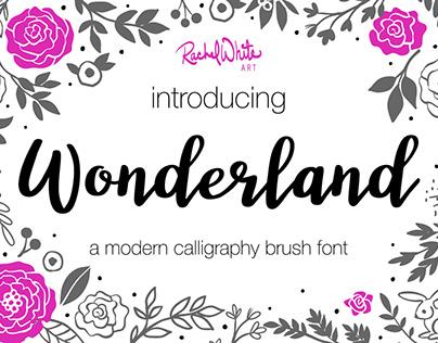 Wonderland, a modern calligraphy brush font