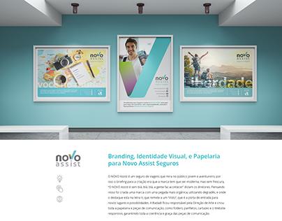 Logotipo, Branding, Papelaria e Website NOVO Assist