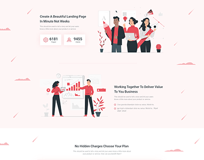 Webpage Design; Inspired from Themeforest